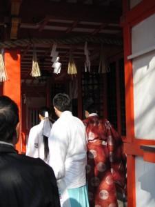 旅の安全祈願(玉造稲荷神社)