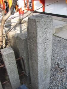 往来安全の石柱(玉造稲荷神社)