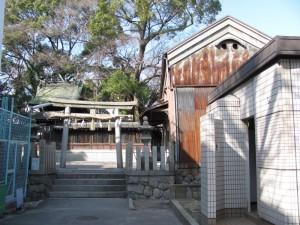 熊野大神宮の裏手(公園付近)