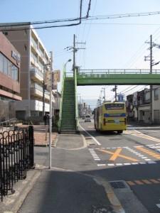 御厨栄町2丁目交差点先の歩道橋