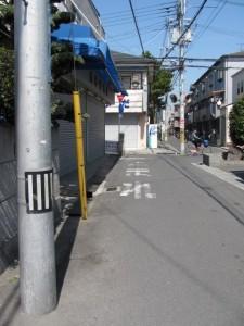 右 ならいせ道の道標