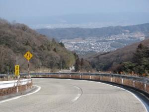暗峠付近からの奈良県側の風景