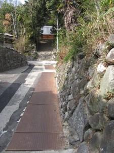 応願寺へ(暗峠~南生駒駅)