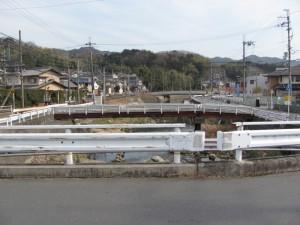 小瀬橋(竜田川)からの風景
