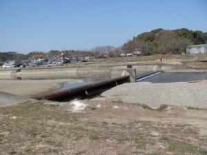五十鈴川右岸から望む宇治山田神社