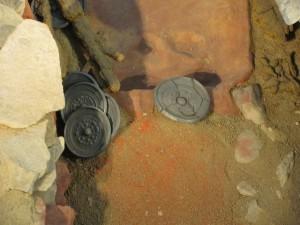 再現された竪穴式石室(黒塚古墳)