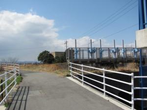 笹笛橋付近