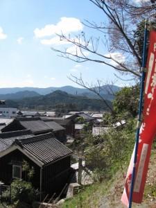 太江寺の参道からの眺望