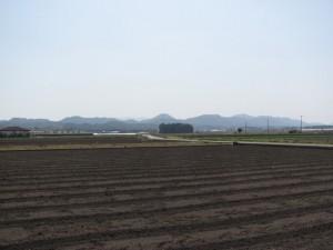 冨岡付近から小社神社を望む
