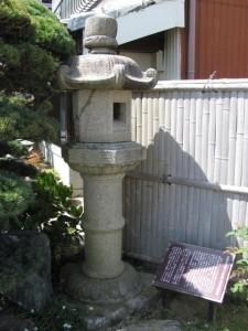 清水次郎長寄贈の石灯籠