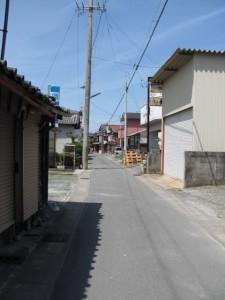 一本道の街道