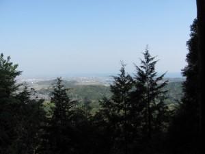 朝熊岳道から伊勢湾を望む