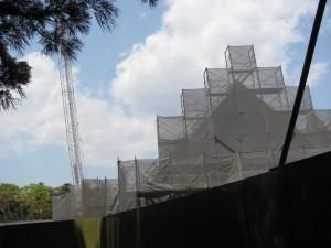 建設中の「せんぐう館」