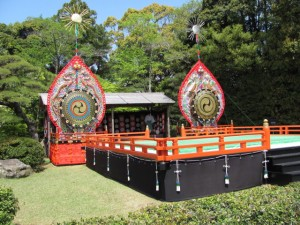 神楽祭の舞台(内宮神苑)
