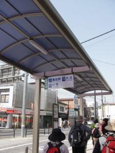 近鉄 榛原駅前のバス乗り場