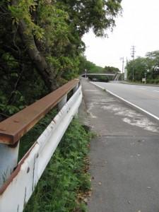 倉田山公園入口付近