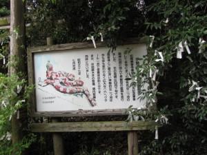 龍神庭園の説明板(松尾観音寺)