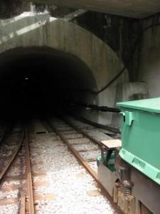 トロッコ電車(湯ノ口温泉駅)