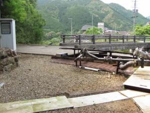 トロッコ電車(瀞流荘駅構内)