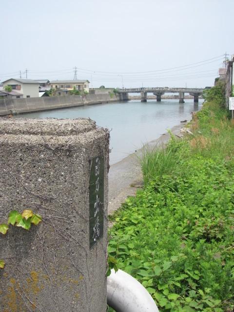 日乃出橋(五十鈴川)から河口を望む