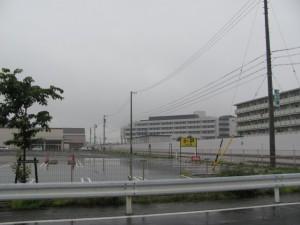 建築中の山田赤十字病院
