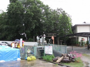 川徳社付近から稲荷神社を望む
