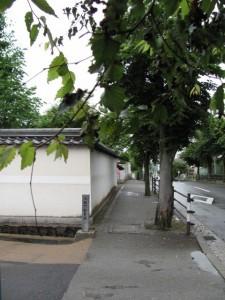 名張藤堂家邸跡へ