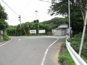 大潟バス停付近