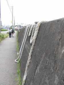 鳥羽港の防潮堤