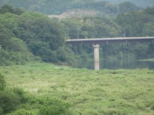 内城田大橋より望む久具都比売橋