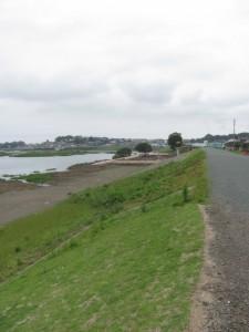 宮川右岸の堤防道