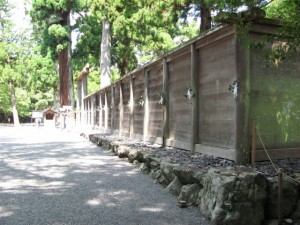 御正宮の板垣(外宮)