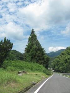 下中村バス停の手前(松阪青山線)