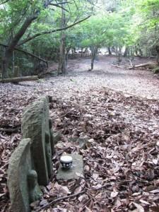 十五丁地蔵町石付近 - 宇治岳道