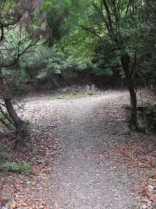 地蔵町石(U14)と石仏(U13) - 宇治岳道
