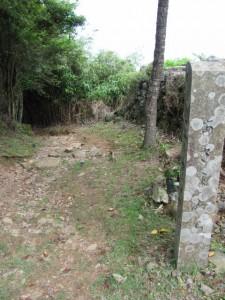 二十二町角柱町石(A49)付近 - 朝熊岳道