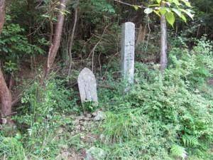 十五町角柱町石(A35)付近 - 朝熊岳道