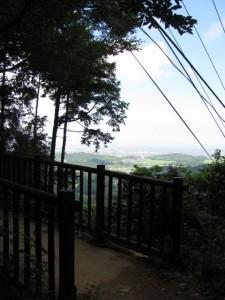 ケーブルカー跡に架かる橋 - 朝熊岳道