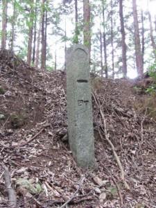 一町角柱町石(A5) - 朝熊岳道
