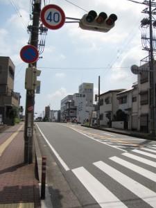 御幸道路交差点(簀子橋付近)
