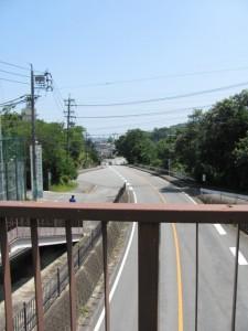 歩道橋からの風景(伊勢学園高校前)