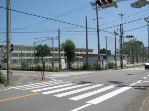 交差点(二見街道 浜郷小学校前)