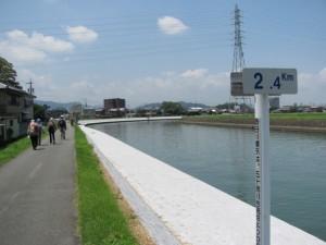 勢田川右岸 2.4km地点