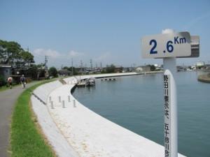 勢田川右岸 2.6km地点