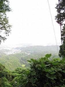 朝熊登山鉄道・ケーブルカー跡に掛かる橋からの風景 - 朝熊岳道