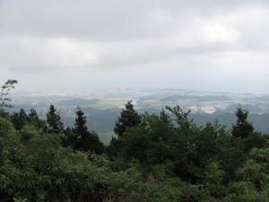 朝熊峠から伊勢市内を望む - 朝熊岳道