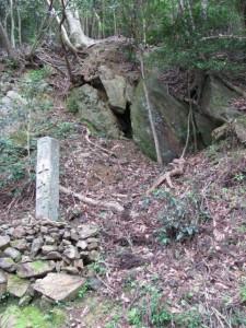 十九町角柱町石(A43) - 朝熊岳道