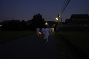 ねり - 公民館~西方寺(大念仏行事)
