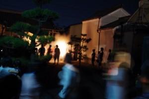 宝林寺参道(大念仏行事)