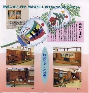 磯部郷土資料館のパンフレット(2/4)
